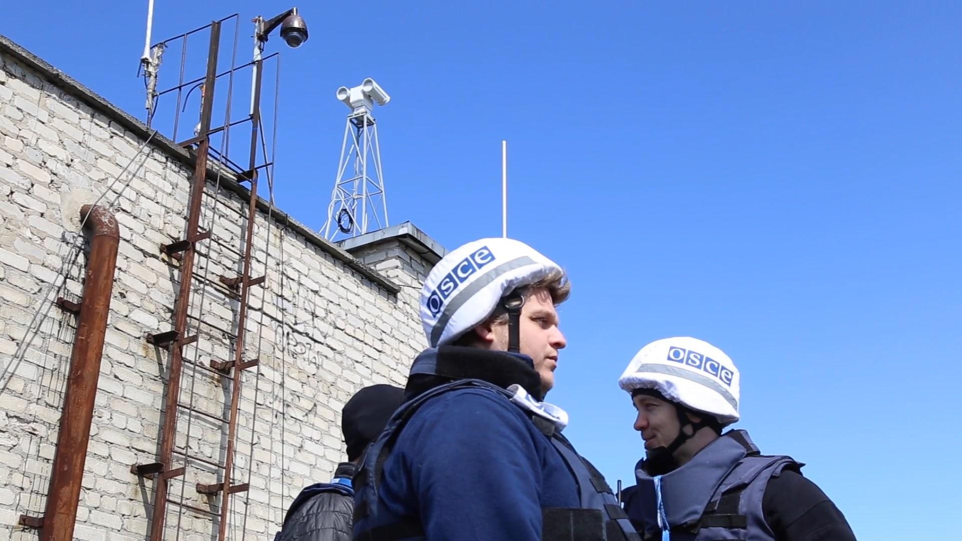 Возле Донецка наблюдатели ОБСЕ попали под минометный огонь боевиков