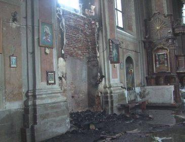 Последствия пожара в старинной церкви на Львовщине (ФОТО, ВИДЕО)