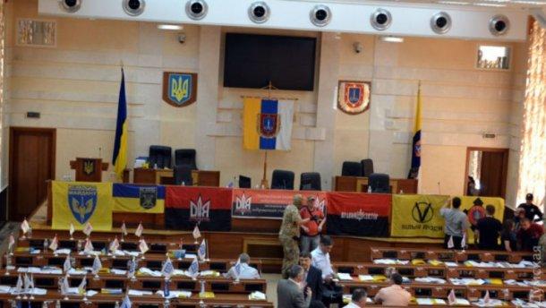 Люди в камуфляже ворвались на сессию Одесского облсовета