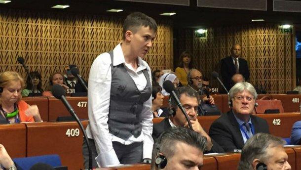 Мы платим кровью за спокойствие Европы, — заявила Савченко на сессии ПАСЕ (ВИДЕО)