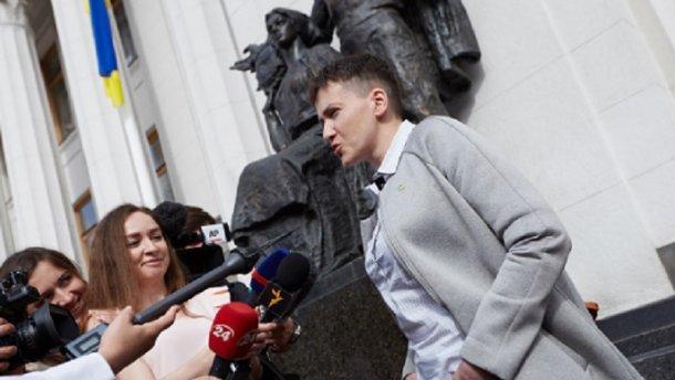 Савченко высказалась за поэтапную отмену санкций против России