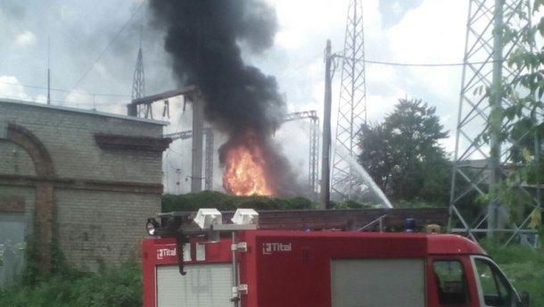 В Харькове пожар: горит электроподстанция (ВИДЕО)