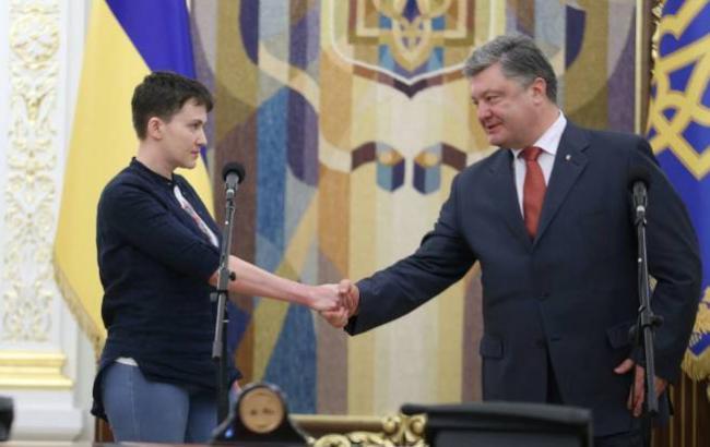 Порошенко просят лишить Савченко звание Героя Украины