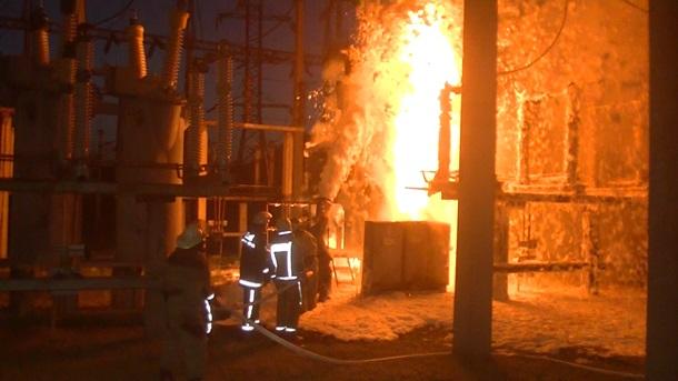 В Харькове горела электростанция (ФОТО, ВИДЕО)