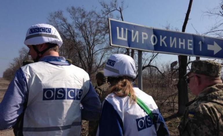 ОБСЕ фиксирует больше нарушений режима прекращения огня в зоне АТО