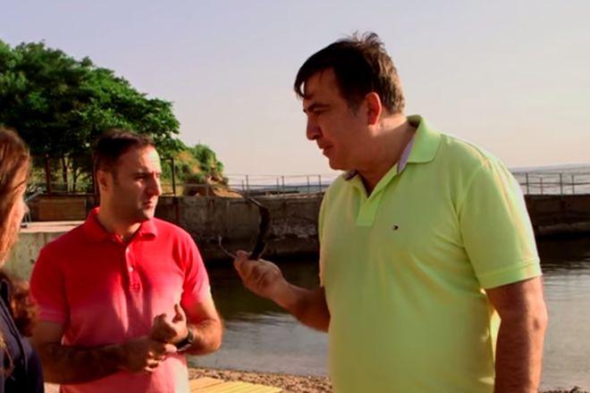 Саакашвили снова взялся освобождать доступ к одесским пляжам
