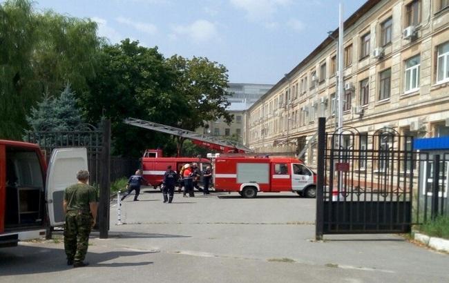 В Харькове горит Апелляционный суд