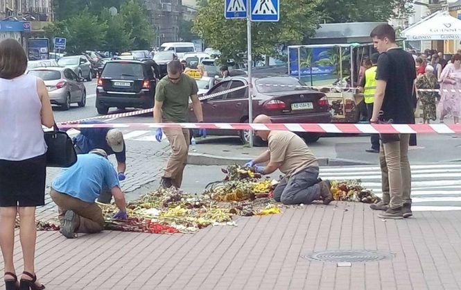 Место убийства журналиста Павла Шеремета исследуют иностранные эксперты (ФОТО)