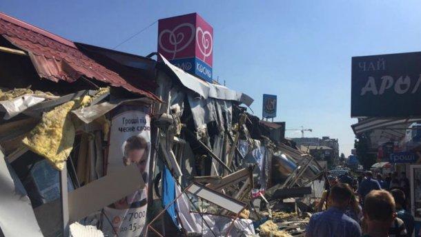 Столкновения в Киеве: из-за сноса МАФов предприниматели подрались с полицией