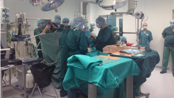 Украинские медики проводят уникальную операцию: опубликованы фото