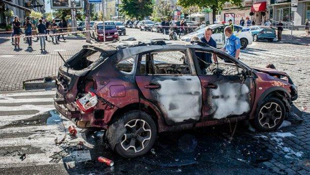 В сети появилось видео момента взрыва автомобиля с Шереметом