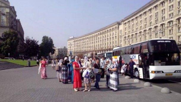 Крестный ход: автобус с паломниками уже в Киеве