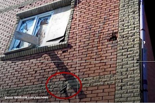 Террористы обстреляли школу в Красногоровке танковыми снарядами