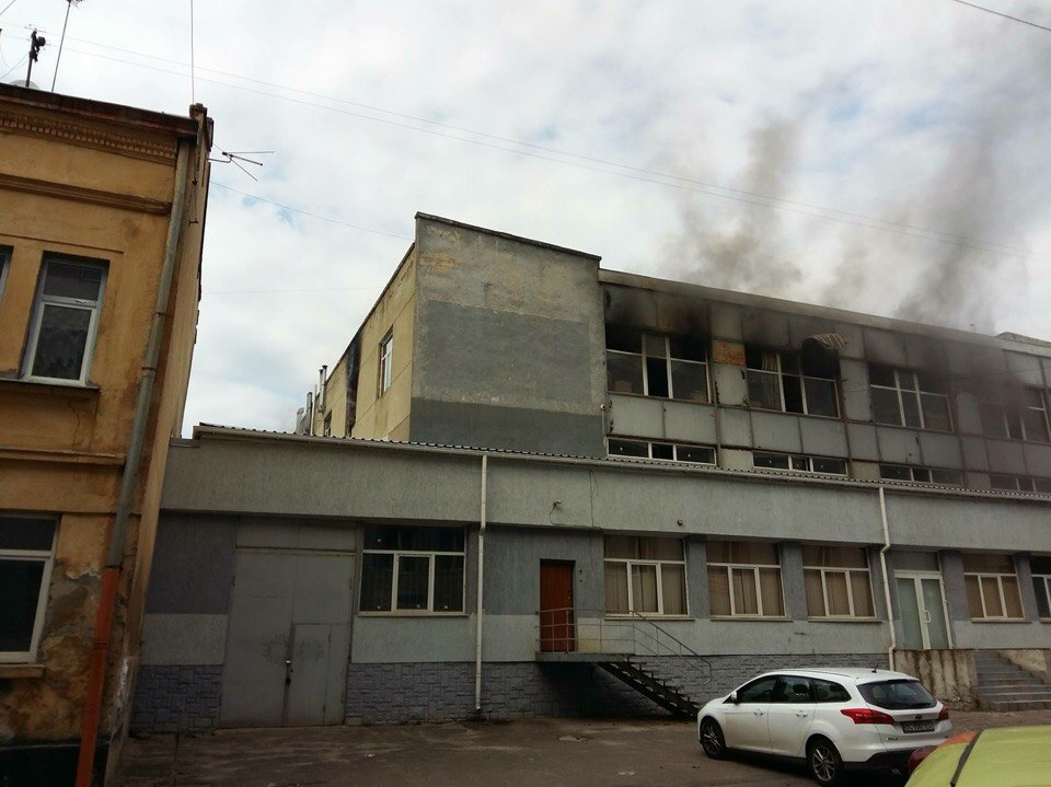 Во львовской пекарни возник пожар (ФОТО)