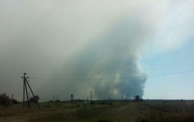 Пожар на Гончаровском военном полигоне: ликвидация продолжается