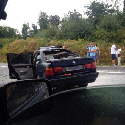 ДТП на Львовщине: полностью разбитое авто на трассе (фото)