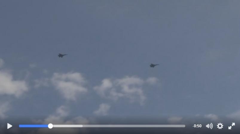 Генштаб опубликовал впечатляющее видео с учений украинских летчиков