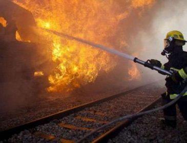 На Львовщине пассажиры на ходу выпрыгивали из горящего поезда (ВИДЕО)