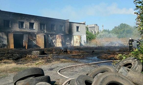 Крупный пожар в Николаевской области