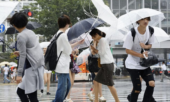 В Японии бушует тайфун: есть погибшие, десятки ранены