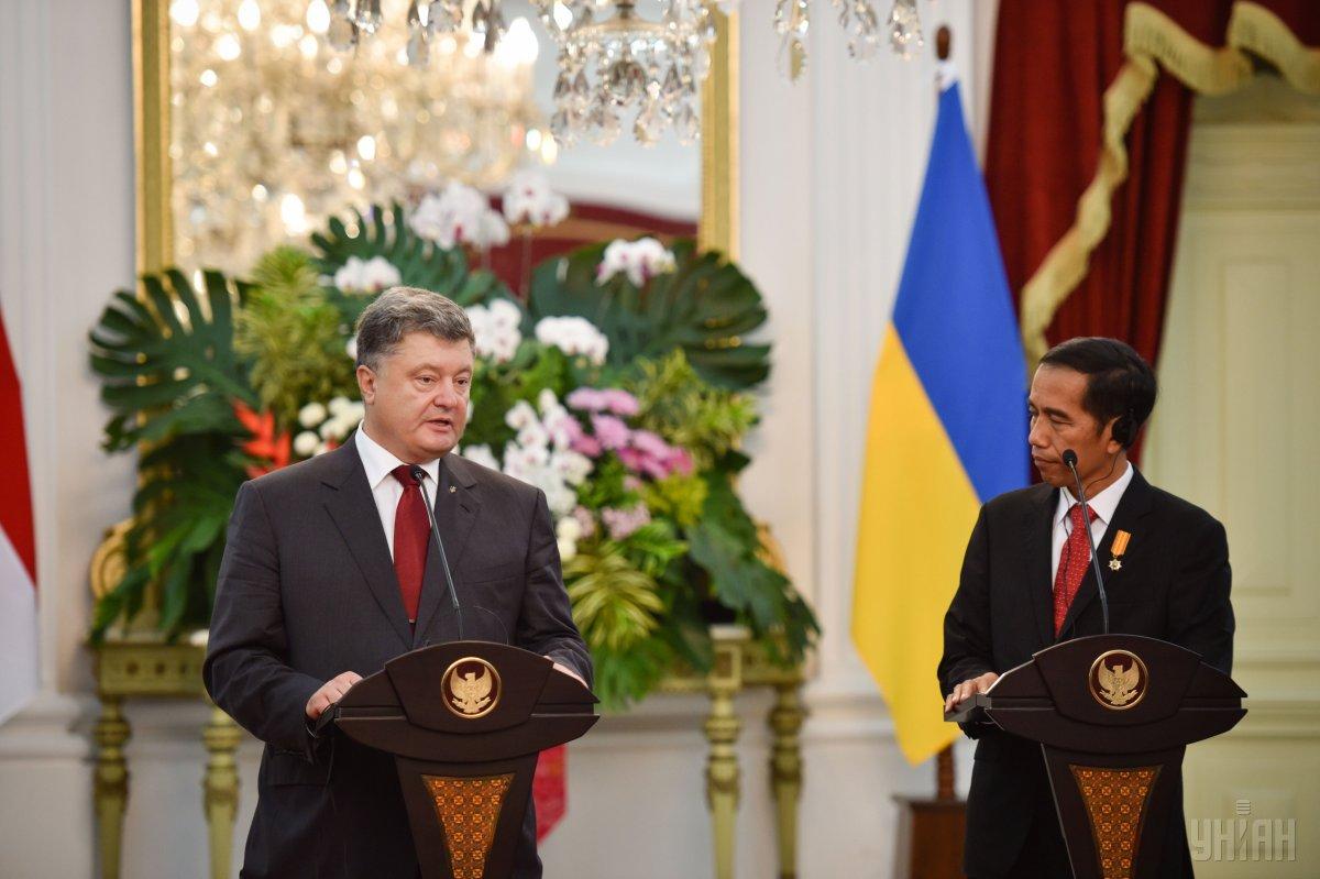 Порошенко призвал индонезийский парламент защитить крымских татар