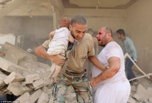«Бомбят ІДІЛ»: россияне убили 11 детей в Алеппо (ВИДЕО 18+)
