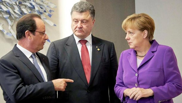 Порошенко встретится с Меркель и Олландом без Путина
