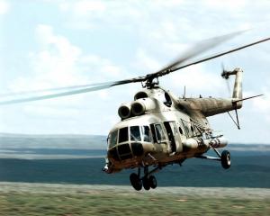 На границе с Крымом заметили российский вертолет Ми-8