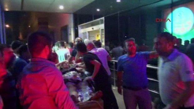 «Свадебный» теракт в Турции: появилось видео взрыва