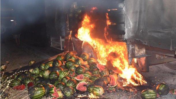 Арбузами тушили пожар на Херсонщине (ФОТО)
