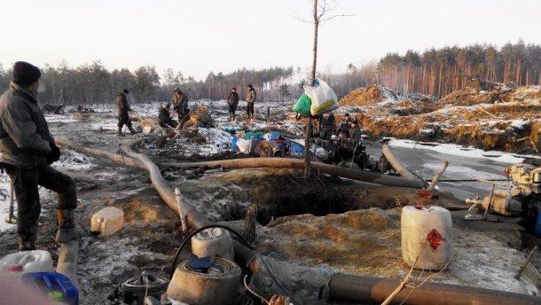 Пограничная авиация показала продолжение массового дерибана леса и янтаря (ВИДЕО)