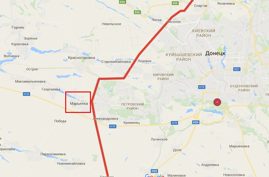 Пропускной пункт «Марьинка» обстреляли со стороны «ДНР»