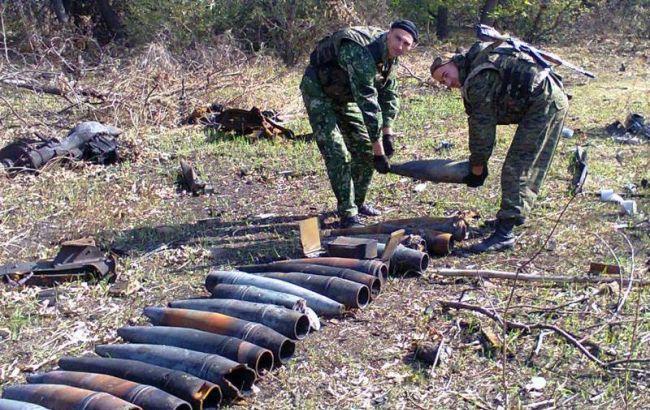 В Луганской области всего лишь за минувшие сутки выявлено 104 боеприпасы