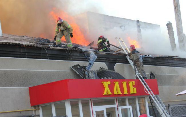 В Харькове произошел пожар в пекарне