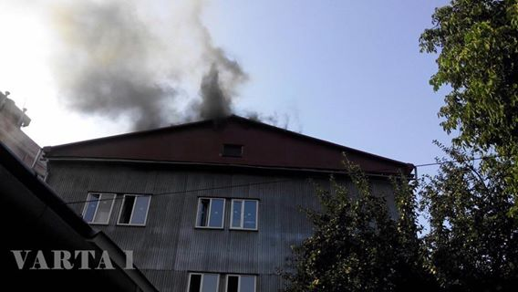 Во Львове горит кофейная фабрика