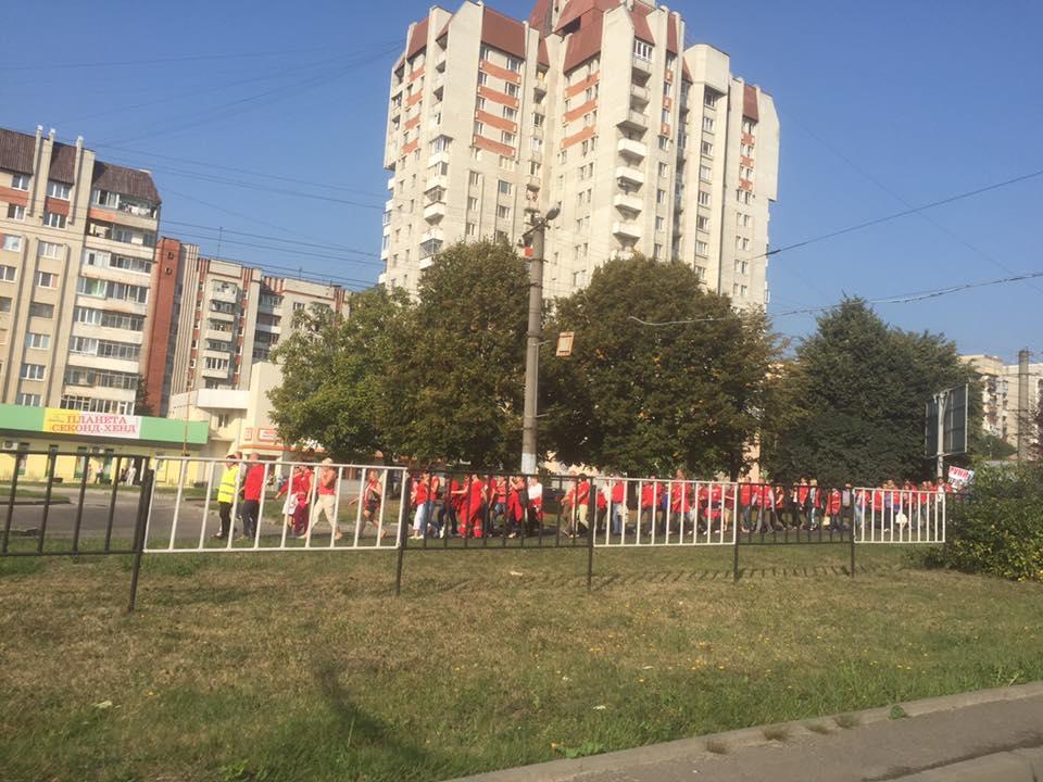 Во Львове всеобщая забастовка работников службы экстренной медицинской помощи Львовской области (фото, видео)
