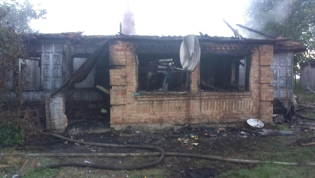 В Кировоградской обл. во время пожара в жилом доме погибла женщина