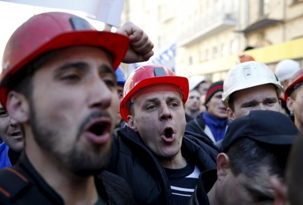 Под Радой собрался митинг шахтеров