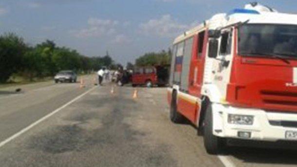 Украинцы пострадали в аварии в Крыму, в том числе дети