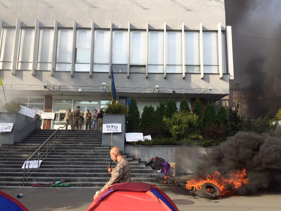 В ДСНС рассказали, что стало причиной пожара в офисе телеканала «Интер»