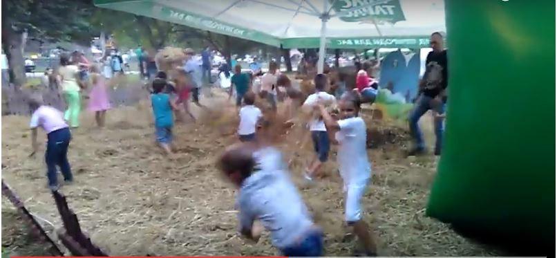 Как во Львове дети развлекались на пивном фестивале, пока мамы пили (ВИДЕО)
