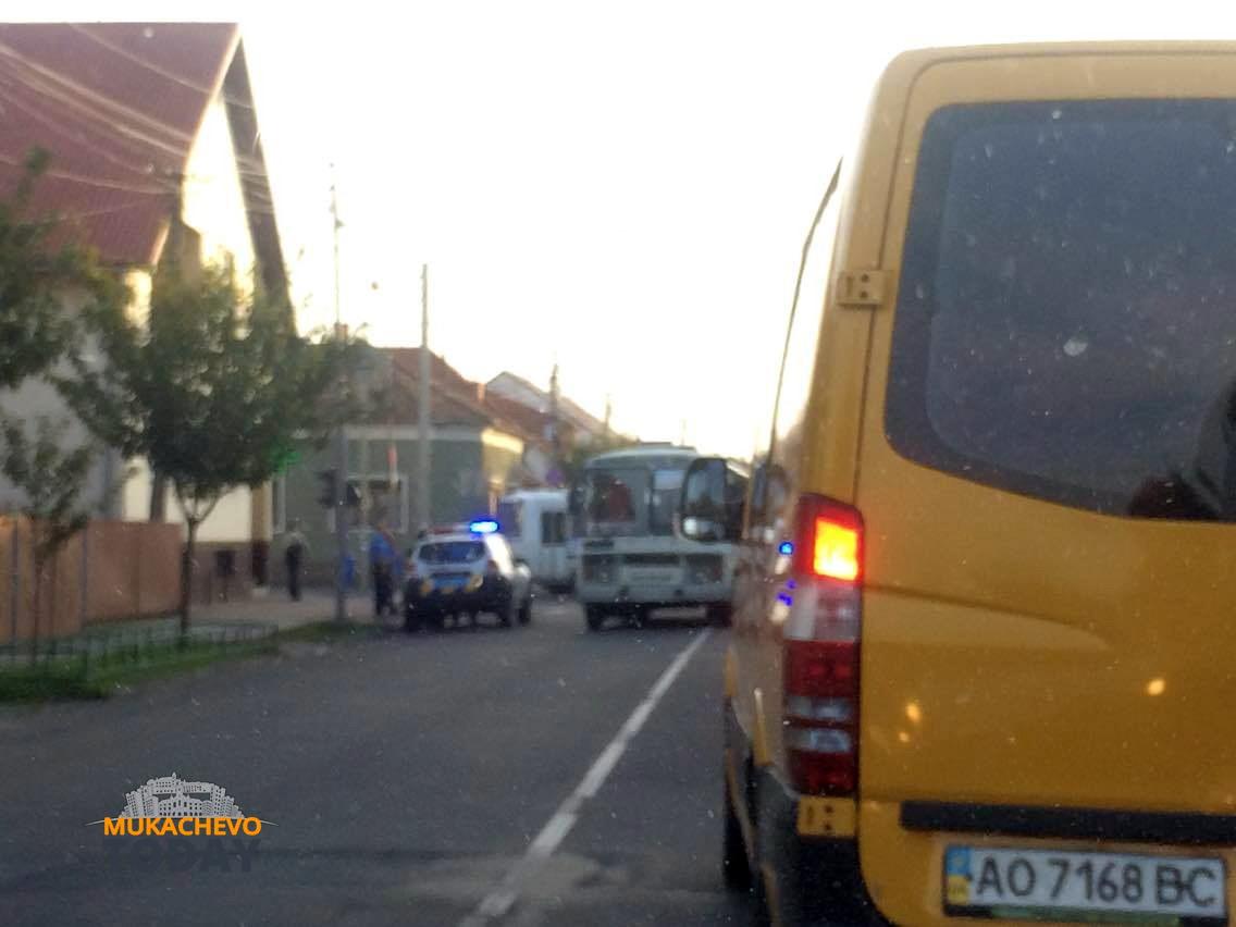 В Мукачево маршрутка закатала в асфальт велосипедиста (ВИДЕО, ФОТО)