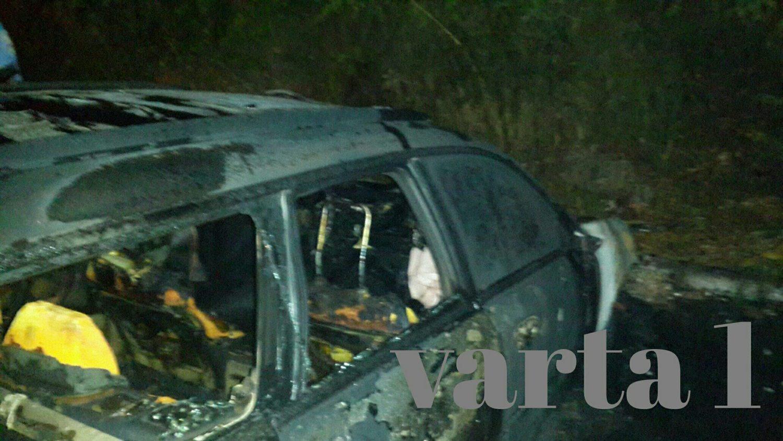 Ночью во Львове полностью сгорела дорогая иномарка (фото)