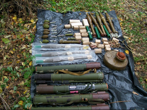 СБУ блокировала попытку вывезти из района АТО арсенал оружия