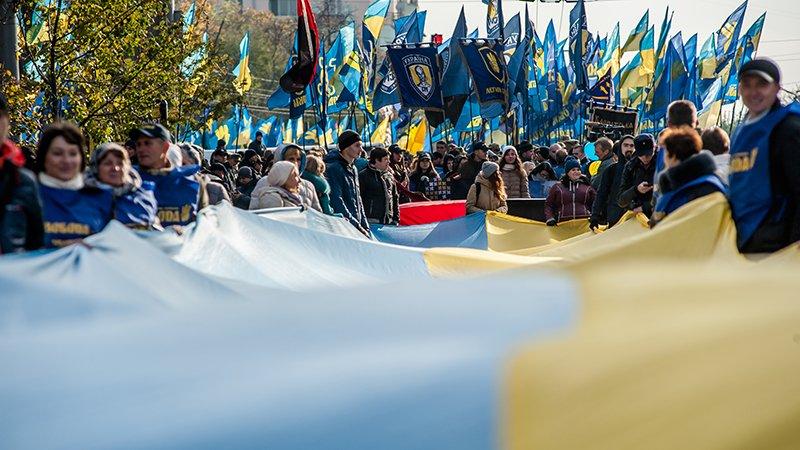 Марш «Свободы» в центре Киева (ФОТО)