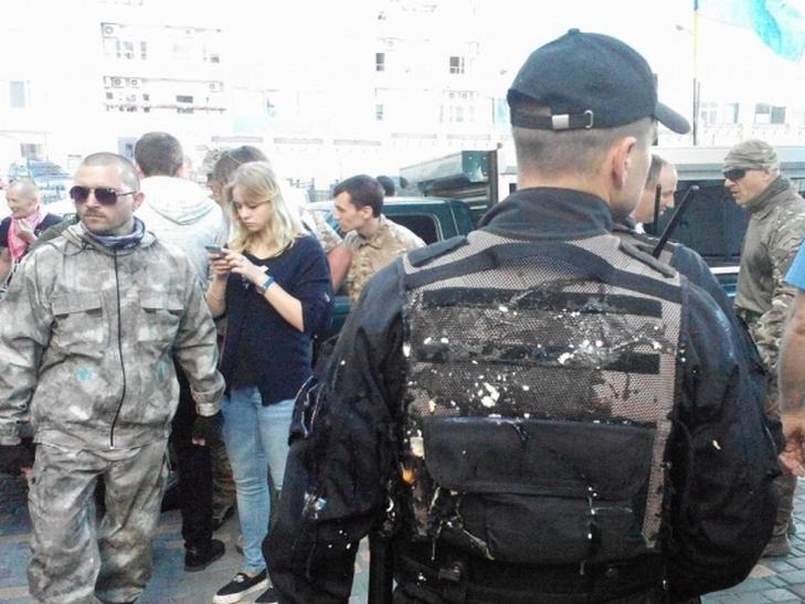 В Киеве произошел конфликт активиста с полицейским