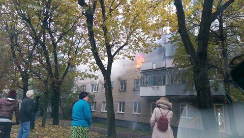Во Львове второй раз за день горит квартира