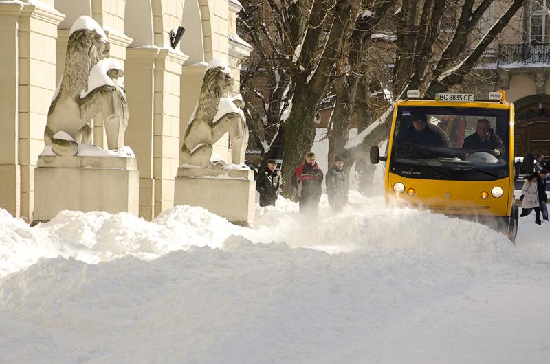 В Львове выпало почти 100% месячной нормы снега