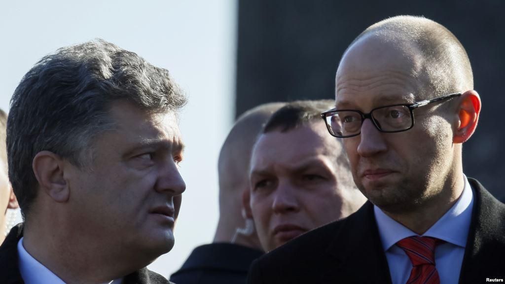 От него этого никто не ожидал: Яценюк пригрозил Порошенко «противотанковой ракетой»