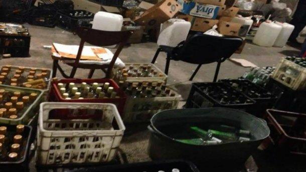 На Ивано-Франковщине прикрыли подпольный алкогольный цех